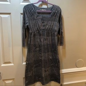 Japanese Weekend Maternity dress floral grey L